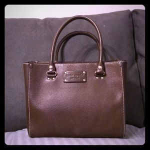Kate Spade leather tote (like new)
